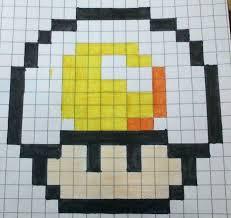 Egg Mushroom Pattern By On Hamasquare Pixel Art Minecraft Templates