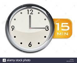 15 Min Timer Office Wall Clock Timer 15 Minutes Stock Photo 169810364