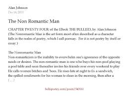 the non r tic man by alan johnson hello poetry