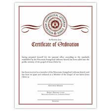 blank ordination certificates certificate of pastor ordination