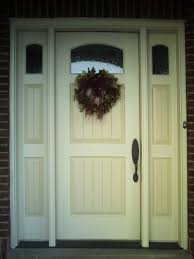 painted residential front doors. This Is Closeup View Of A Two-tone Painted Wood Entrance Door. Residential Front Doors
