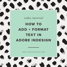 Indesign's stroke styles, especially the dotted stroke styles, are a mysterious topic; How To Add And Format Text In Adobe Indesign Paper Oats