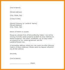 Rental Letter Template Landlord Tenancy Notice Letter Template Moving Out To