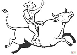 Small Picture Rodeo Cowboy Bull Riding coloring page Free Printable Coloring Pages