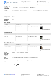 Free Daily Construction Log Template Better Than Excel And