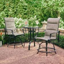 patio furniture at home depot. Bar Height Dining Sets Outdoor Furniture The Home Depot Regarding Patio Chairs Decor 0 At