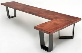natural wood bench. Contemporary Wood Bench L Shape In Natural Wood R