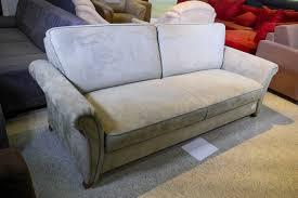 Kabs Sofa 3 Sitzer In Veloursoptik Mit Olivefarbenen Ziernähten