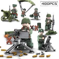 Bộ đồ chơi lego 480 mảnh ghép HUIQIBAO TOYS chủ đề quân đội thú vị cho bé