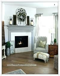 redo fireplace mantel white tile surround upgrade