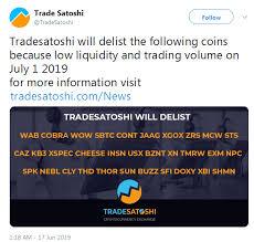 Neblio Nebl Delisting From Trade Satoshi Coindar