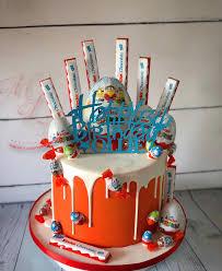 Egg Surprise Cake Design Kinder Surprise Drip Cake With A Selection Of Kinder