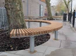 Marvelous Curved Outdoor Seating Stirling Bench Seat Contemporary Circular Bench  Seating