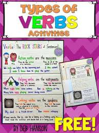 Verb Types Chart Types Of Verbs Anchor Chart With A Freebie My Blog