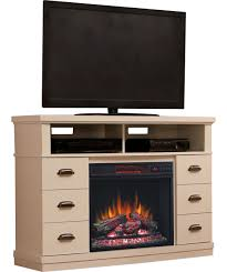 raymer infrared electric fireplace media console in white 23de40043 pt01