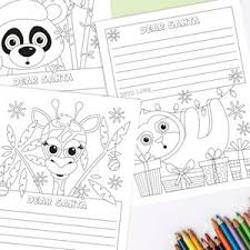 Free printable coloring pages for children that you can print out and color. Letter To Santa Coloring Pages Digital Santa Letter Template Etsy