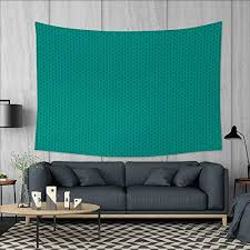 anniutwo teal art wall decor knitting inspired pattern sewing and crafting hobby themed design monochrome image print tapestry wall tapestry w60 x l51