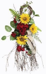 sunflower geranium swags prairie gardens champaign illinois