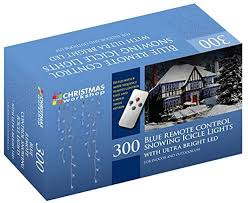 The Christmas Workshop 300 <b>Remote Control</b> LED Snowing <b>Icicle</b> ...