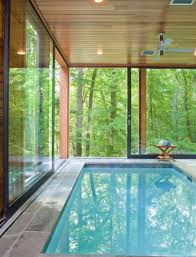 Beautiful Indoor Pool With Forest Views