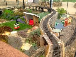 children garden. gardens on spring creek: outdoor train set in children\u0027s garden children s