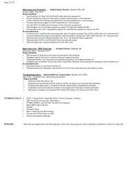 Manufacturing Engineer Resume Sample Professional Model Resume Sample Resume Template Word Free Resumes ...