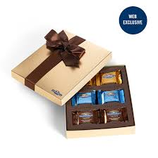 image for chocolate caramel ortment gift box 18 pc from ghirardelli
