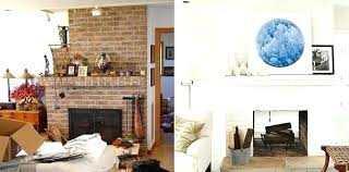 painted brick fireplace white now this asymmetric white painted fireplace is the focal point of the