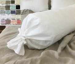Linen Bolster Pillow Case, Multiple Color Choices, Crushed linen crush!