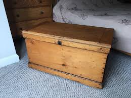 antique wooden pine chest trunk kist blanket box wooden coffee table