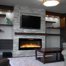 flush mount electric fireplace recessed pebble wall mounted linear