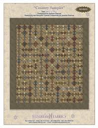 Country Sampler by Jeanne Horton, Free Projects, Windham Fabrics