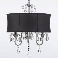 modern contemporary black drum shade crystal ceiling chandelier pendant lightning fixture fan chandelier com