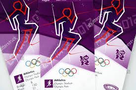 Tickets Athletics Event Olympic Stadium Editorial Stock