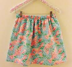 Handmade Skirt Size Chart Lobstah Roll Lobster Lilly Pulitzer Skirt By Preppypinkshop