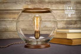 glass globe table lamp desk lamp edison lamp