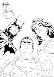 See more ideas about valentine coloring pages, valentine coloring, coloring pages. Batman Superman Wonder Woman Looking At You For Adult Coloring Pages Printable