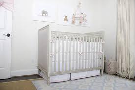 nursery with gray french crib