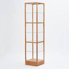 glass display case. Oak Display Cabinet Glass Case