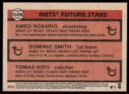 2018 Topps Archives Future Stars Rosario Smith Nido #FS-NYM on Kronozio