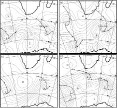 Synoptic Chart Synoptic Weather Chart Surface Pressure Lines Of The