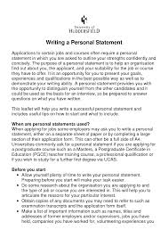Personal Statement Examples For Resumes 24 Personal Statement Resume Formal Letter Examples Ournewwebsiteus 7