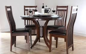 wooden dining room table and chairs cool dark somerset amp java round dining room table and