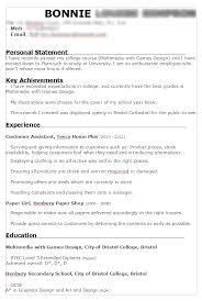 Job Skills For Cv Cv Bonnie Simpson Games Design