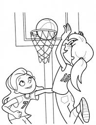Small Picture Girls Playing Basketball Coloring Page Sports Coloring Pages