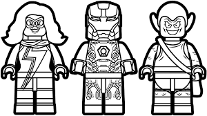 Small Picture Lego Iron Man vs Lego Ms Marvel vs Lego Green Goblin Coloring Book