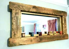 wall mirrorsrustic wood wall mirror large framed mirrors wooden frame majestic rustic