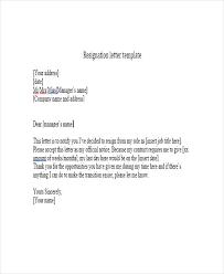 Resignation Template Short Letter Omfar Mcpgroup Co
