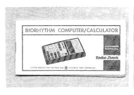 Radio Shack Ec 314 Biorhythm Computer Calculator Kosmos 2