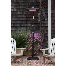 infrared patio heater. Black Powder Coated Steel Pole Mounted Infrared Patio Heater - Fire Savage